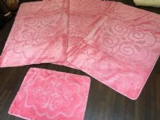 ROMANY WASHABLE TRAVELLERS MATS SET NON SLIP SUPER THICK RUGS PINK GYPSY MATS